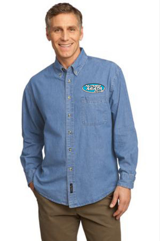 Nutmeg Miata Men's Denim Longsleeve Shirt