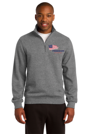 Freedom Elite Embroidered Unisex 1/4 Zip Sweatshirt
