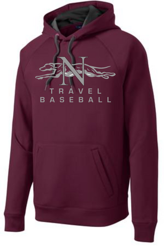 Naugatuck Travel Baseball Wicking Adult Hooded Sweatshirt