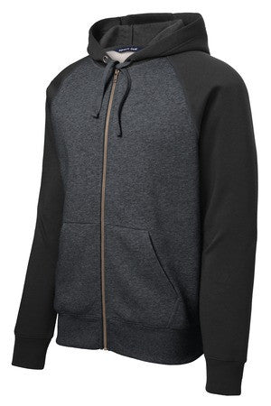 Full Zip Raglan sleeve Hooded Sweatshirt
