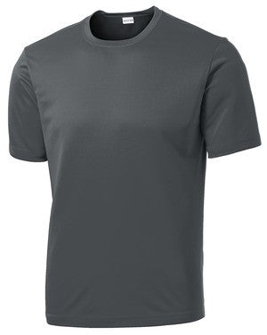Naugatuck Thunderfish Grey Mens wicking t-shirt with side print