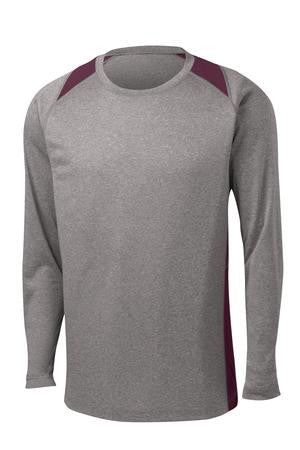 Long-sleeve 2 Tone Heathered T-Shirt 2