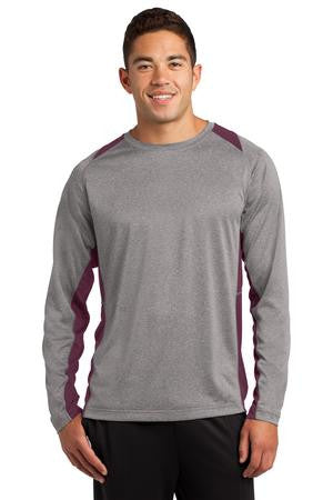 Long-sleeve 2 Tone Heathered T-Shirt