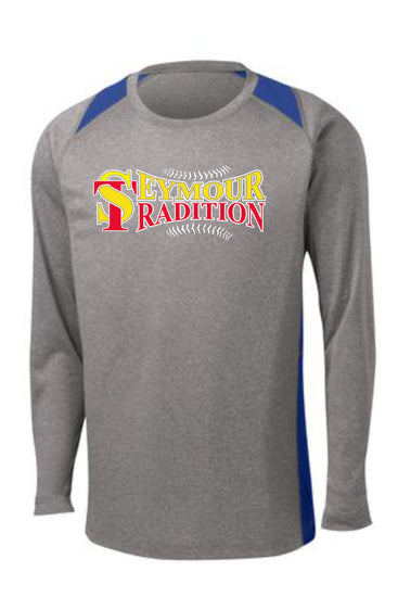 Seymour Tradition Adult Long Sleeve Heather Colorblock Contender™ Tee