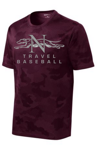 Naugatuck Travel Baseball YOUTH Camo wicking t-shirt