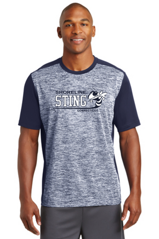 Shoreline Sting Sport-Tek® PosiCharge® Electric Heather Colorblock Tee