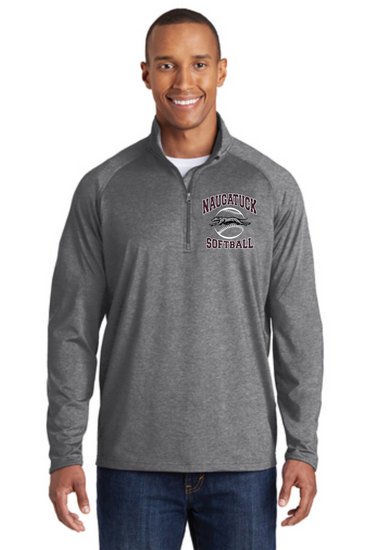 Naugatuck Softball Unisex 1/2 Zip Embroidered Performance Pullover