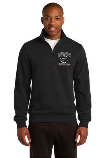 Naugatuck Softball Unisex 1/4 Zip Embroidered Sweatshirt