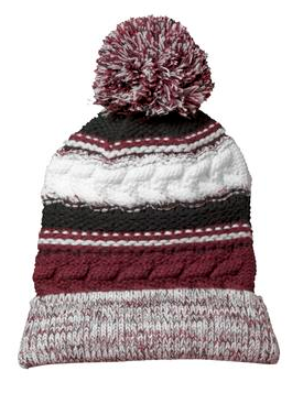 Hearts Football Pom Pom knit beanie cap