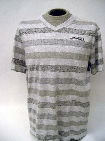 Unisex Striped V-Neck T-Shirt