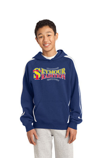 Seymour Tradition Royal Youth Sleeve Stripe Hooded Sweatshirt