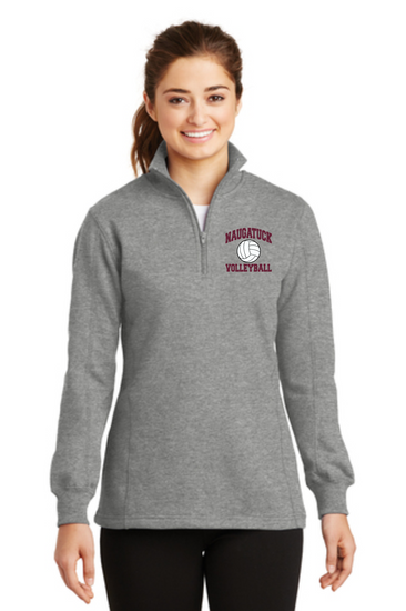 Naugatuck Volleyball Cotton Ladies 1/4 zip Sweatshirt