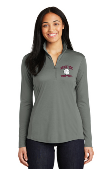 Naugatuck Volleyball Wicking Ladies 1/4 zip Longsleeve