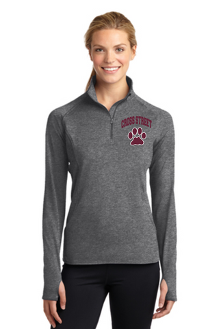 Cross Street Ladies 1/2 Zip Sport-wick Stretch Pullover