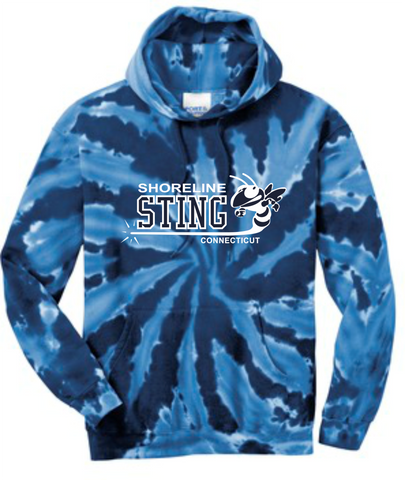 Shoreline Sting Adult Tye-Dyed Hooded Sweatshirt