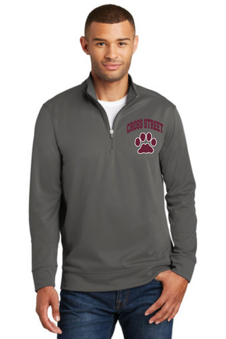 Cross Street Adult 1/4 Zip Performance Pullover