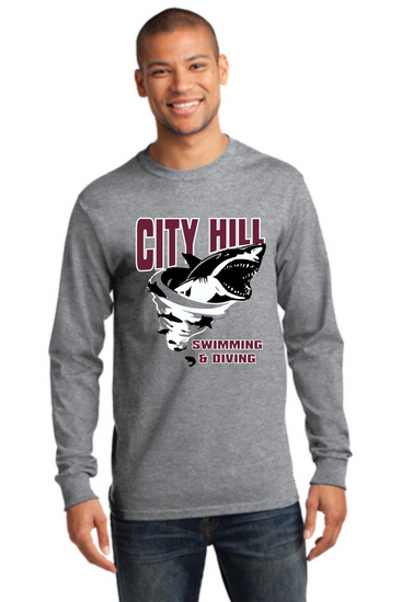 CITY HILL SWIM TEAM LONGSLEEVE COTTON T-SHIRT