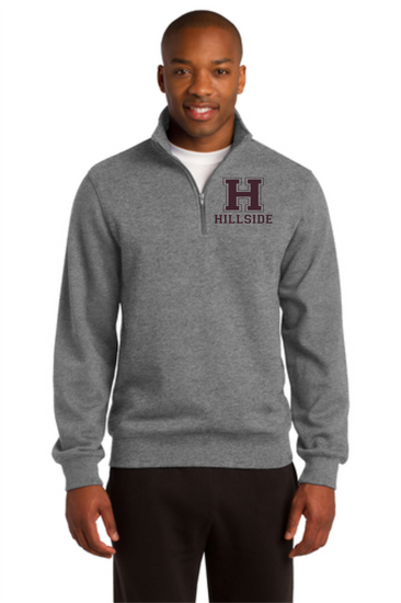 Hillside Men's 1/4 Zip Cotton blended Pullover