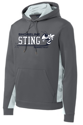 Shoreline Sting Camo Block Performance Hooded Sweatshirt