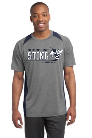 Shoreline Sting Navy Colorblock Polyester Wicking t-shirt