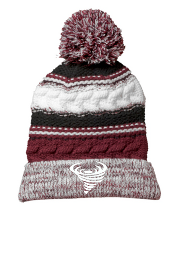 City Hill Swim Team Pom Pom knit beanie cap