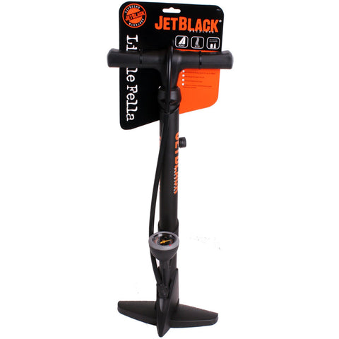 Jet Black Little Fella Floor Pump With 2-way Head