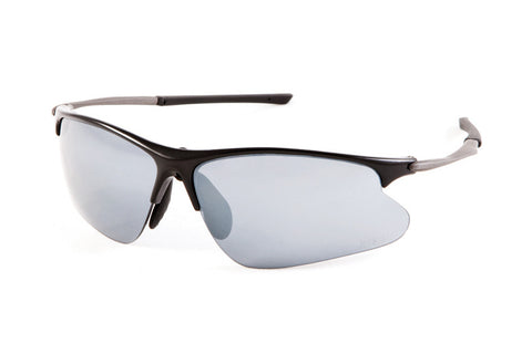 Jet Black Svelto Eyewear - Black W' Black Tips - Smoke, Clear & Amber Lenses