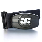 Jet Black Heart Rate Monitor - Dual Band Technology (Bluetooth / ANT +) - Soft Strap