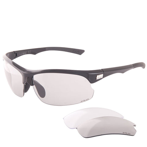 Jet Black Jetstream Eyewear - Gloss Black W' Black Tips