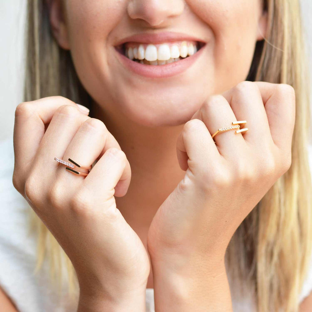 Neringa Rose Gold Stacking Ring