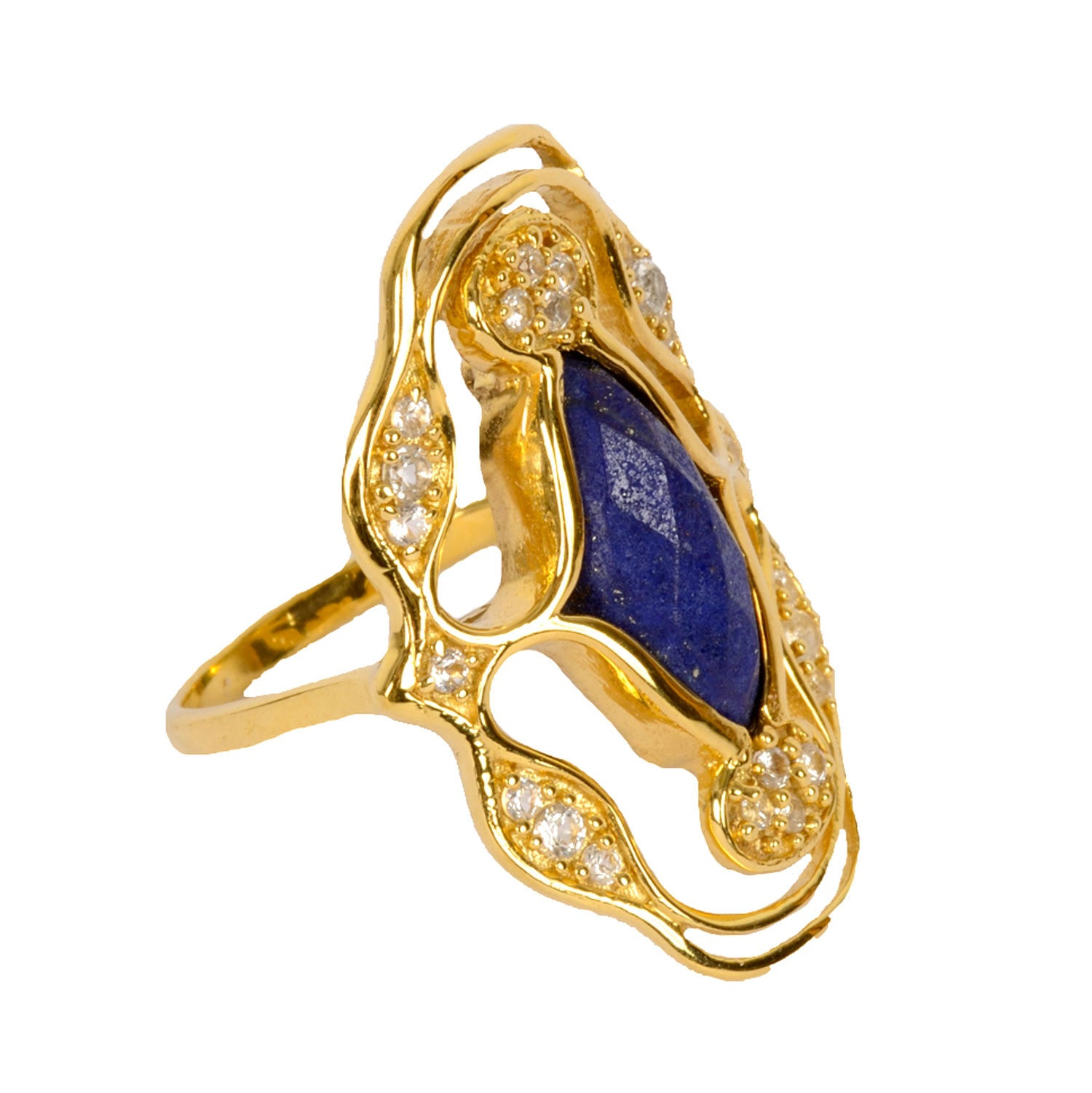 Cocktail Ring with Lapis Lazuli