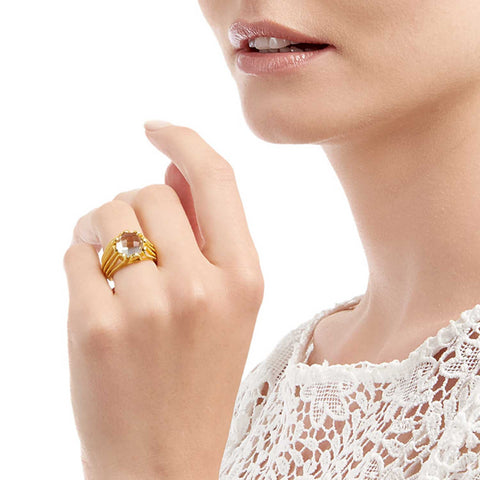 Alessia Gold Cocktail Ring