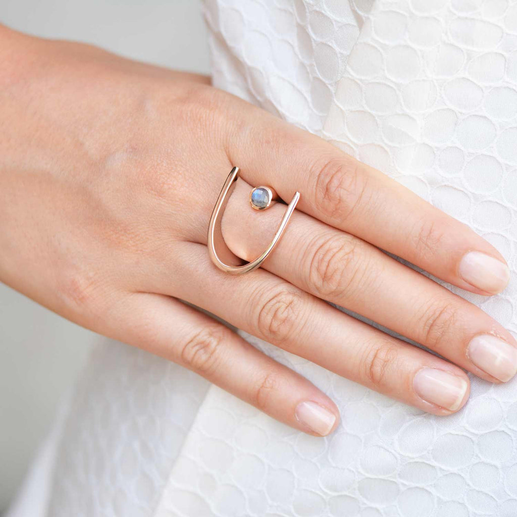 Lunaria Rose Gold Cocktail Ring