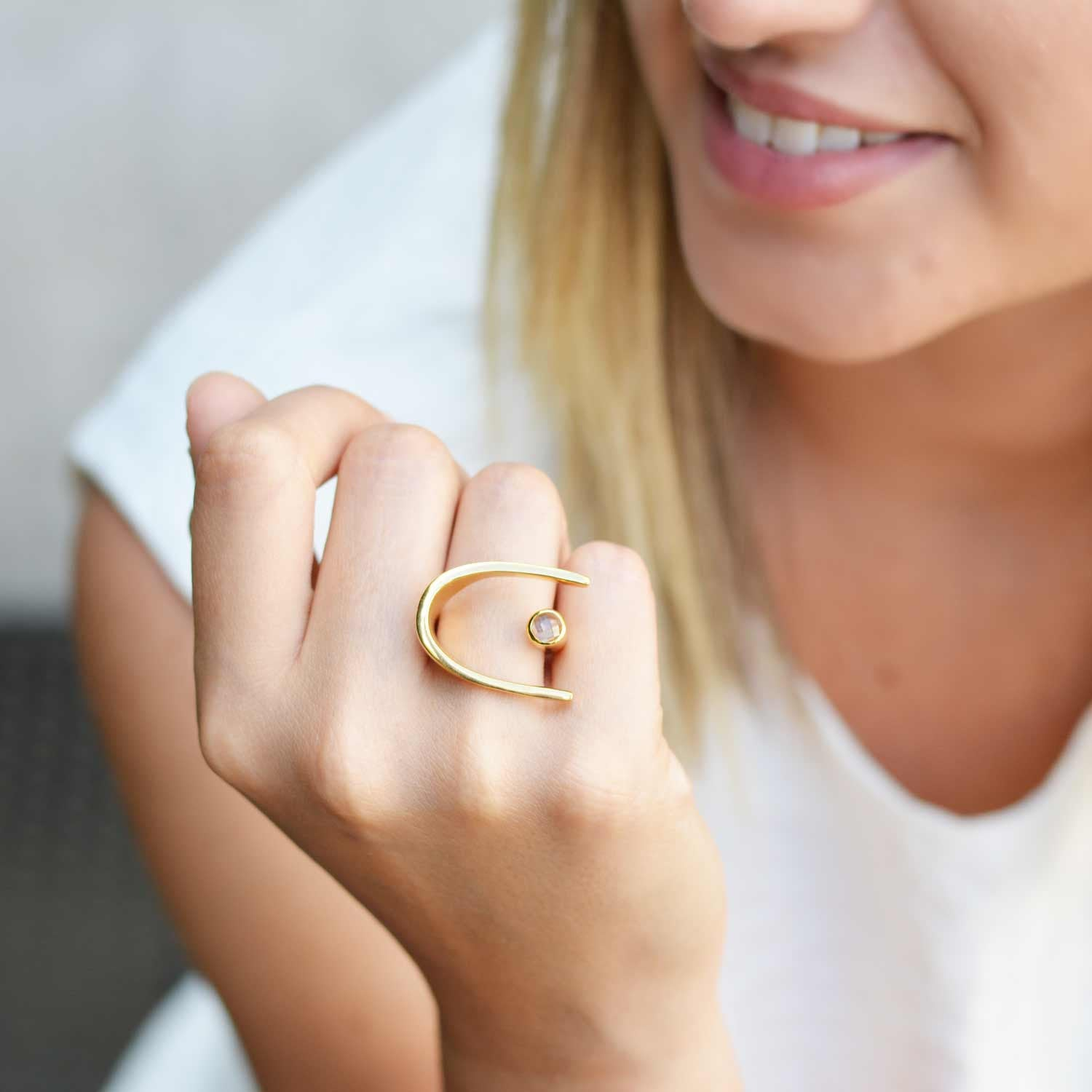 Lunaria Gold Cocktail Ring