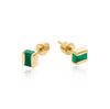 green onyx, studs, earrings, gold, vermeil, neola design