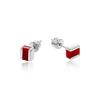 red onyx, silver, studs, neola design, gemstones