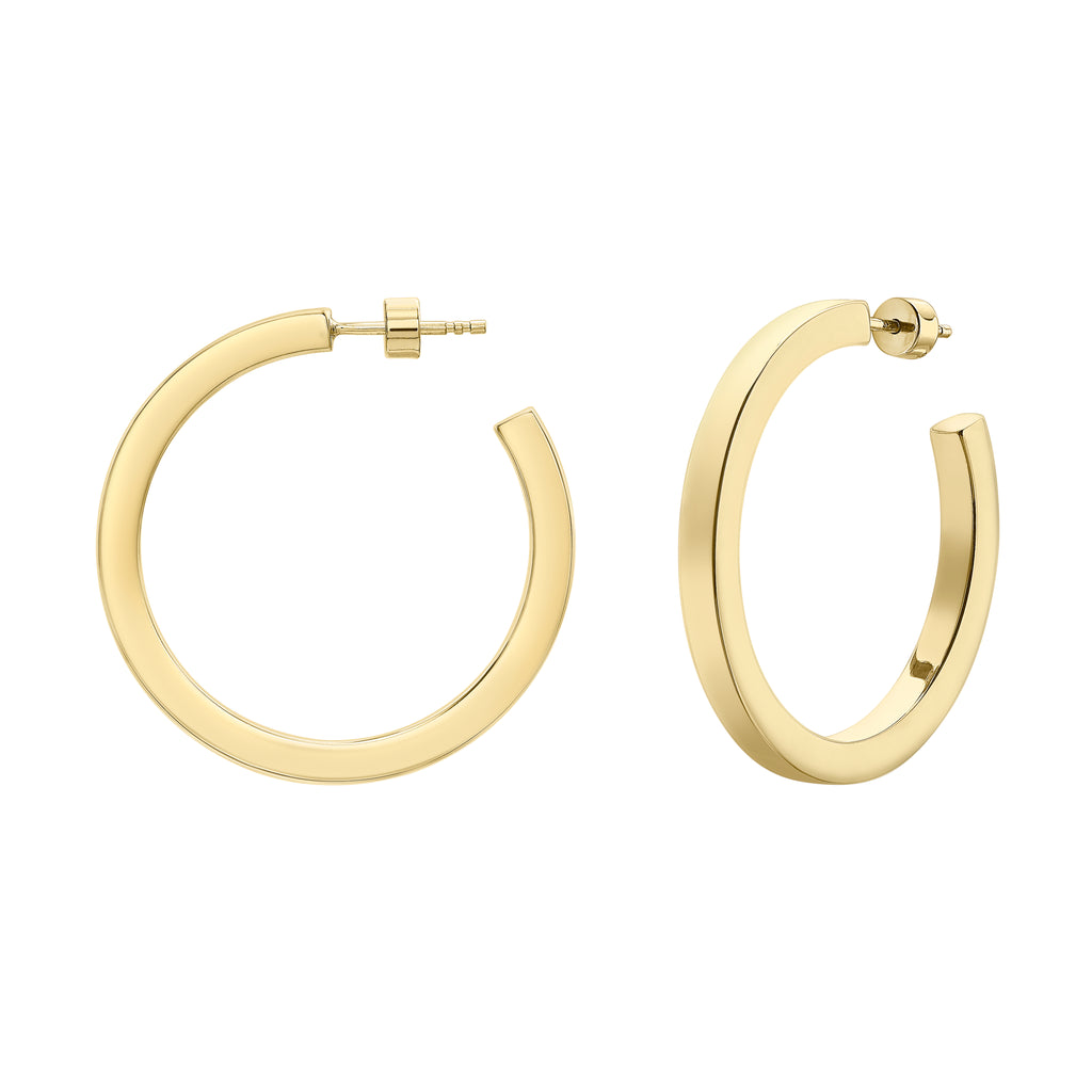 gold hoops handmade ethical british designer jewellery neola design