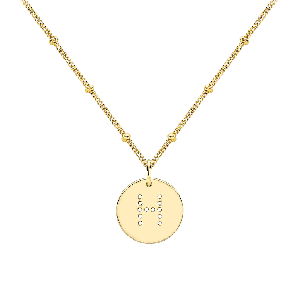 alphabet necklace with letter pendant in 18ct Gold Vermeil