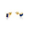 lapis lazuli, studs, earrings, gold, vermeil, neola design