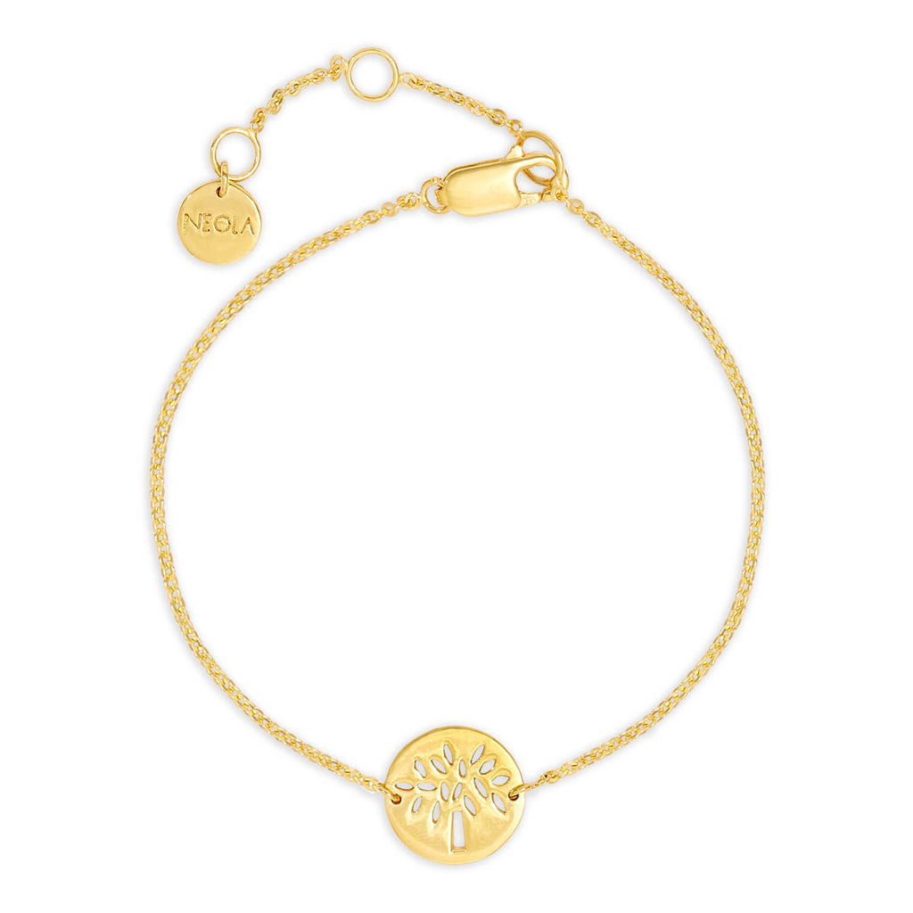 Friendship Tree Gold Bracelet