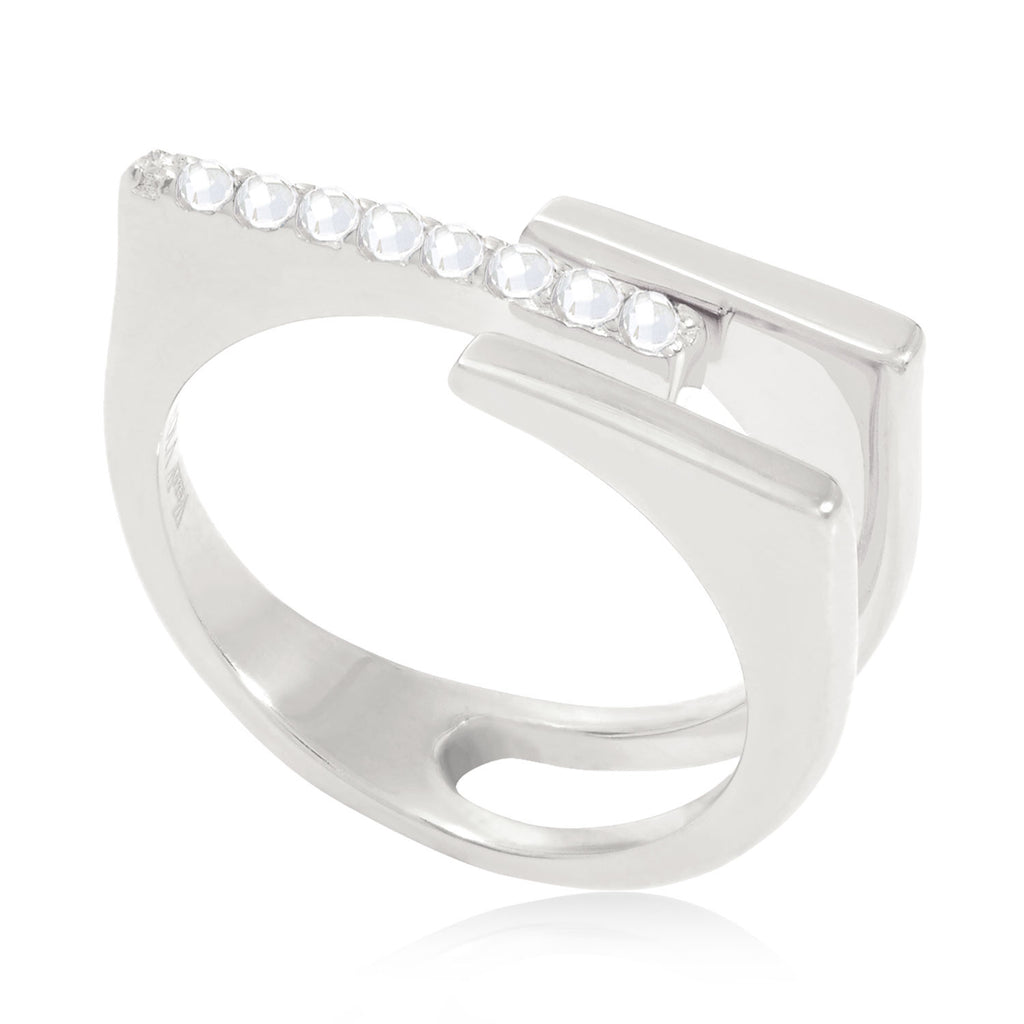 Neringa Silver Stacking Ring with White Topaz