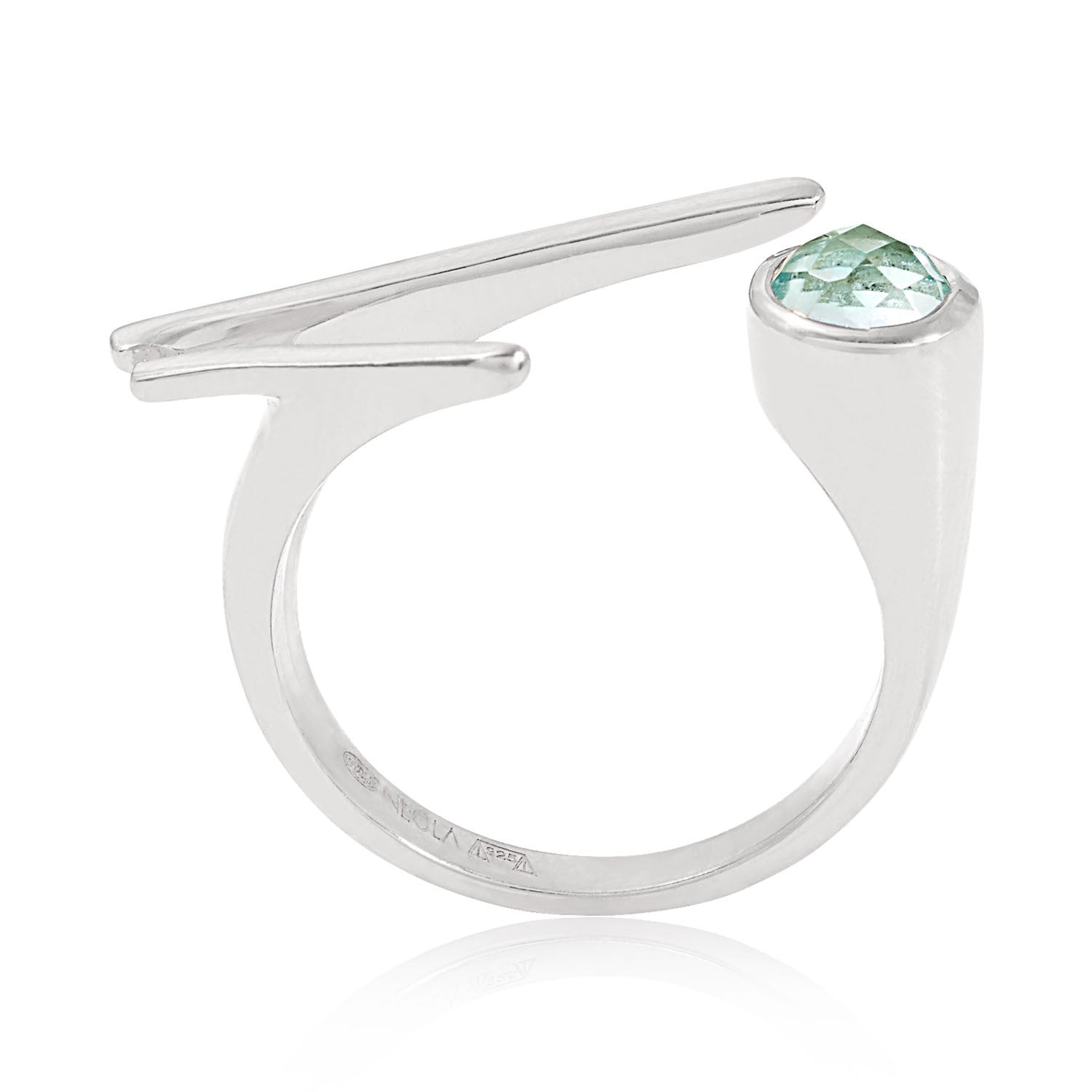 Roxanne Silver ring with Blue Topaz