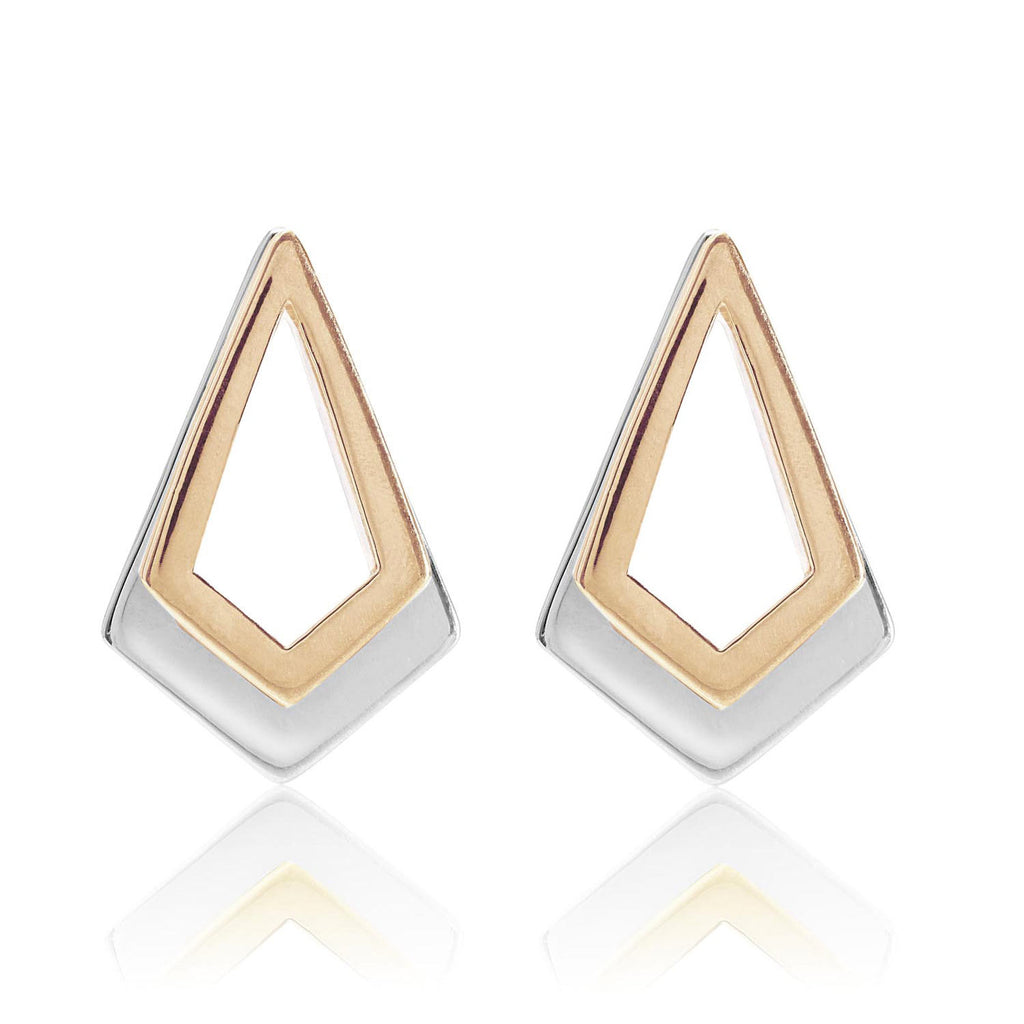 Serenity Rose Gold and Sterling Silver Earrings
