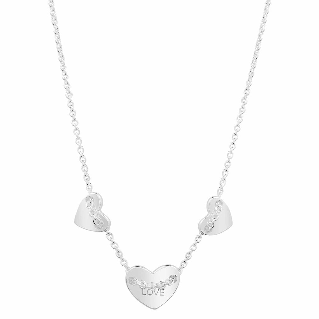 Sterling silver heart necklace. Fine British jewellery ethically handmade
