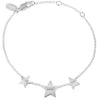 Sterling silver star bracelet. Fine British jewellery ethically handmade