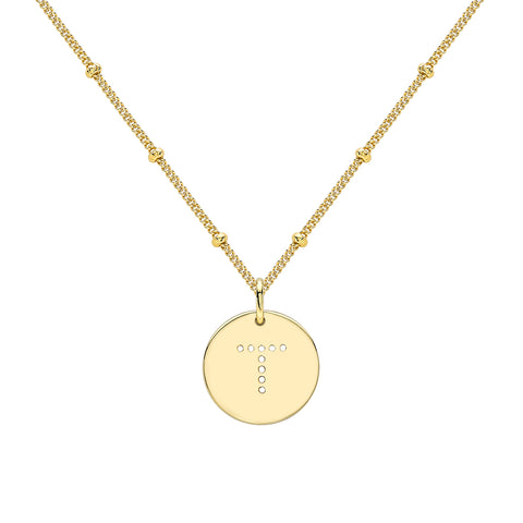 ALPHABET T NECKLACE