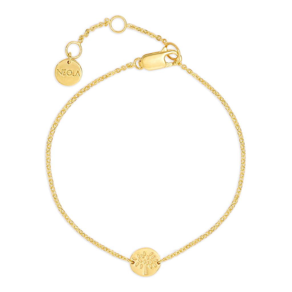 Small Tree Gold Friendship Bracelet