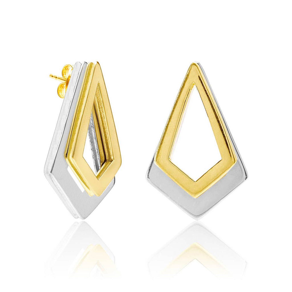 Serenity Gold and Sterling Silver Earrings