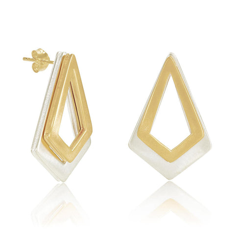 Gold and Sterling Silver Earrings | Neola British Handmade Jewellery