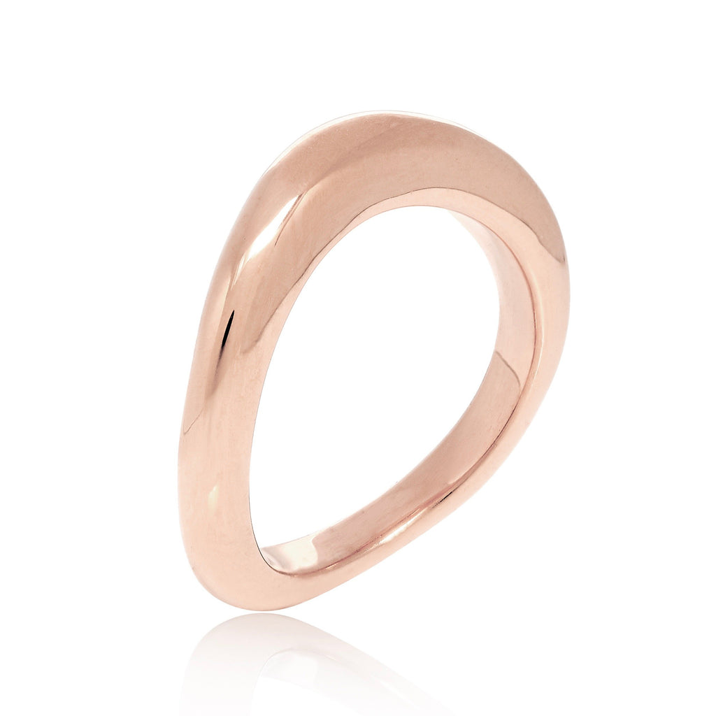 rose gold, ring, stacking, organic, handmade, neola design stylish, luxury